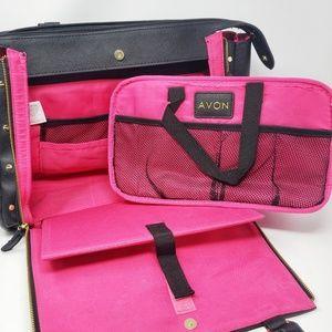 Avon | Black Pink Representative Tote Bag Case